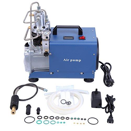 PanelTech 110V High Pressure Air Pump 300Bar 30Mpa 4500Psi Electric PCP Potable Air Compressor Pump for Airgun Rifle Automobile Tyres