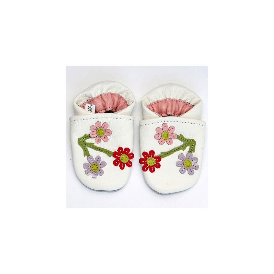 Augusta Baby Cherry Blossom Soft Sole Leather Baby Shoe (12 18M)