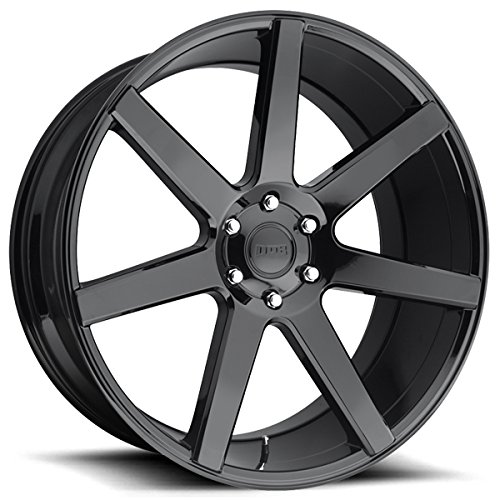 DUB Future 22x9.5 Black Wheel / Rim 6x5.5 with a 30mm Offset and a 78.1 Hub Bore. Partnumber S204229577+30