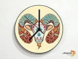Aries - Astrology Star Sign Zodiacs - Solar System - Novelty Gift - Custom Name Wall Clock