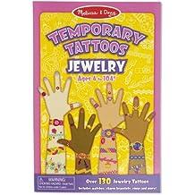 Melissa & Doug Temporary Tattoos: Jewelry - 130+ Kid-Friendly Tattoos