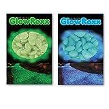 Glow Roxx - 100 Pcs Glow in the Dark Rocks Decorative Garden Pebbles (Blue)