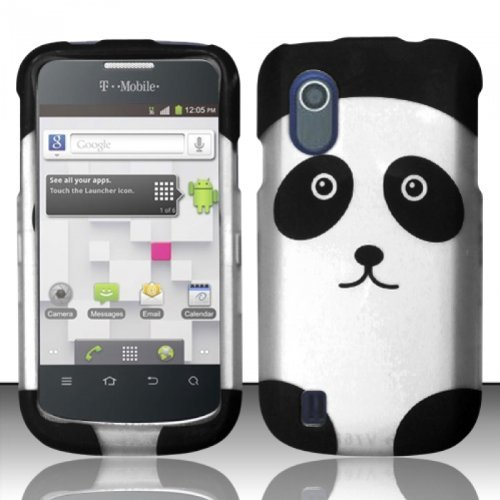 For ZTE Concord V768 (T-Mobile) Rubberized Design Cover Case - Panda Bear (T Mobile Concord Phone Cases)