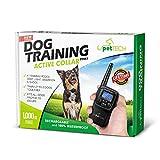 PetTech Premium Dog Training Shock Collar, Fully Waterproof, 1000ft Range.