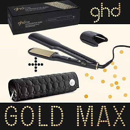 Ghd - Plancha de pelo Styler Max Gold, ancha placa de cerámica, incluye estuche Ghd redondo: Amazon.es: Salud y cuidado personal