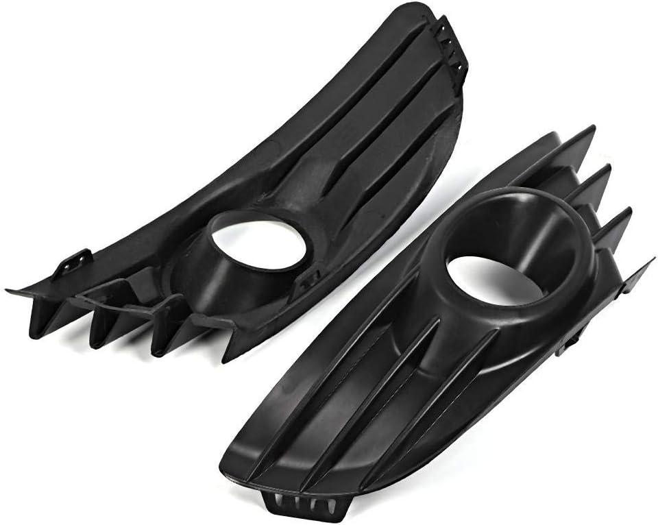 ABS Paire de garniture de grille antibrouillard avant pour pare-chocs couleur noire Compatible avec C4 2004-2008 Noir Gorgeri Grille de phare antibrouillard
