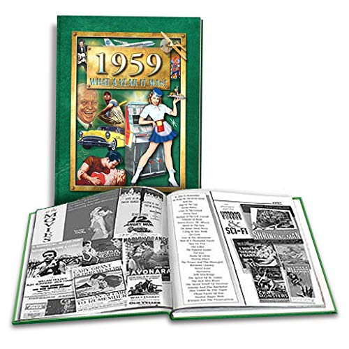 1959 What A Year It Was! Coffee Table Book: Happy 60th Birthday or Anniversary