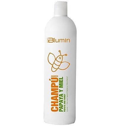 Blumin Champú Suave y Tratante de Papaya y Miel Efecto Sedoso y Ultrabrillante Aporte Extra de