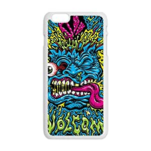 Blue Monster Greative White Phone Case for iPhone plus 6