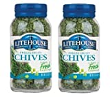 Litehouse Freeze Dried Chives (.25 oz Jars) 2 Pack by Litehouse