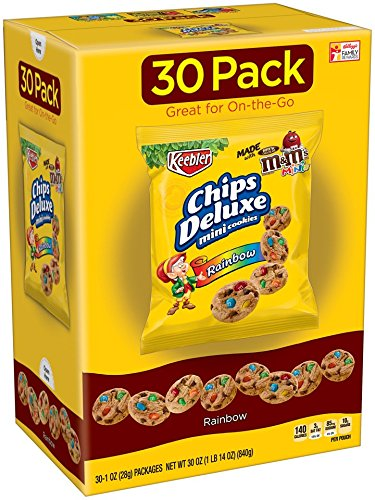 Cheez-It Keebler Chips Deluxe Mini Cookies, Rainbow, 30 Ounce(Pack Of 4)