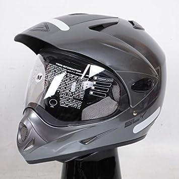 Casco de Moto Cross y Enduro Shot Sly Stratis gris brillante talla M Neuf: Amazon.es: Deportes y aire libre