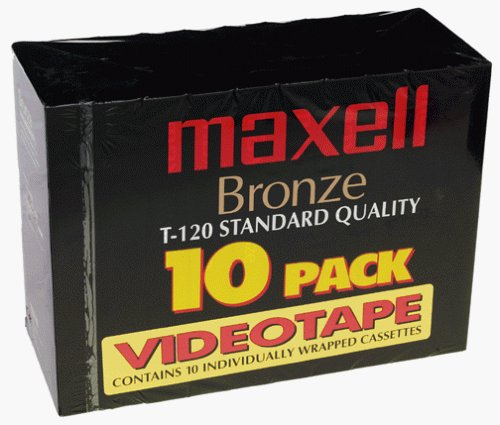 Maxell Bronze T-120 VHS (10-Pack)