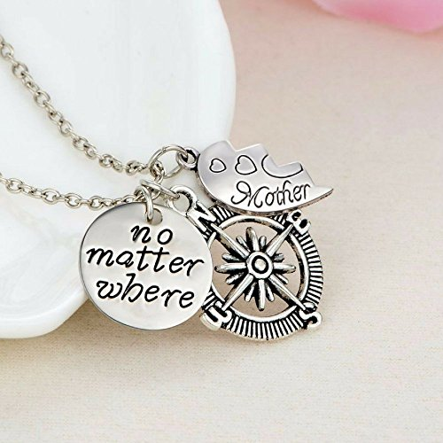 Mother daughter pendant necklace no matter where necklace set mother daughter pendant necklace aloadofball Images