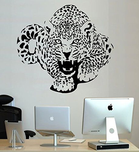 Wild Animal Wall Decal Sticker Vinyl Bedroom Nursery Home Cheetah Leopard Gepard Jungle African Ethnic Decor Art Mural SM130 Decor African Animal Accent Murals