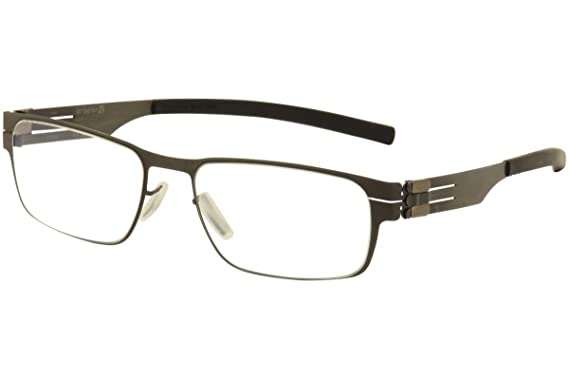 637aef1ce56 Image Unavailable. Image not available for. Color  ic! Berlin Rast Flex  Graphite Metal Eyeglasses