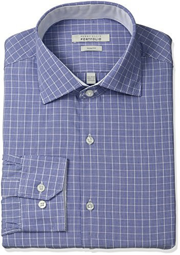 Perry Ellis Slim Fit Wrinkle Free Graph Check