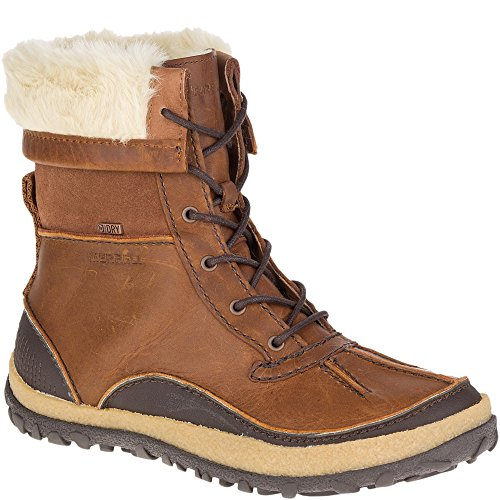 Merrell Women's Tremblant Mid Polar Waterproof Snow Boot, Oak, 9 M US by Merrell