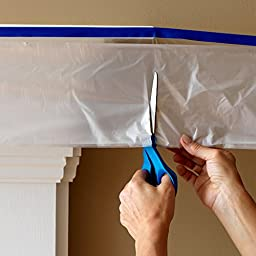 C&S Pretaped Drop Cloth 99 in x 90 ft with 24mm Blue Masking Tape