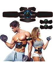 Rootok Elektrisch stimulerend apparaat voor buikspieren, elektrische massagegordel met USB, stimulatie van de spieren, elektrisch massageapparaat voor buik, armen, benen, billen