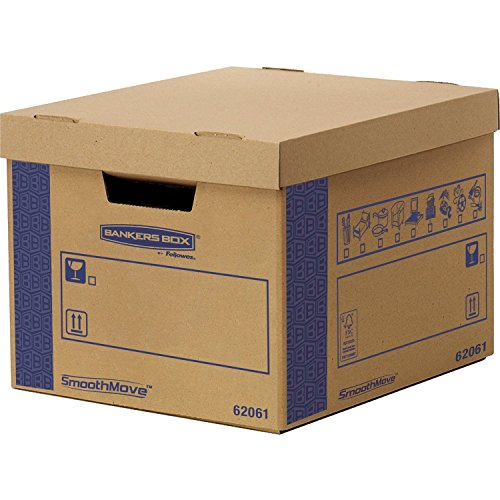 BANKERS BOX 6206101 46.4 x 39 x 29.4 cm Smooth Move Fast Fold Removal Box, Pack of - Fast Fold Box Bankers