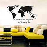Quote Mirror Decal Quotes Vinyl Wall Decals I haven't been everywhere but it's on my list map for living room bedroom