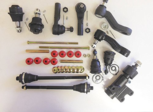 (Suspension kit Ac Cars 13 pcs. 2 Upper 2 Lower Ball Joint 2 Inner 2 Outer Tie Rod 2 Sway Bar Links 1 Pitman 1 Idler Arm 1 Idler Arm Bracket Right and Left Side 4WD vehicles)
