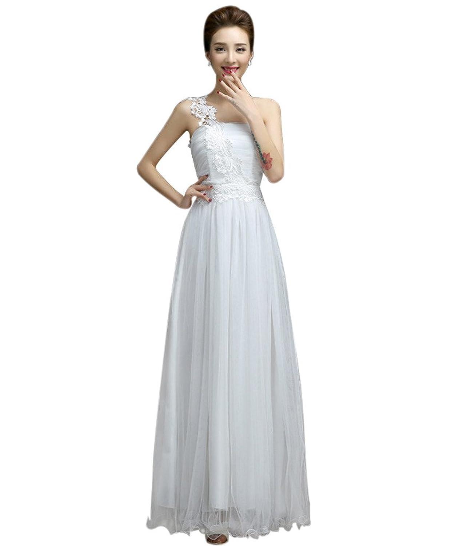 Vimans? Women's 2016 Elegant Long One Shoulder Lace Bridesmaid Evening Gowns