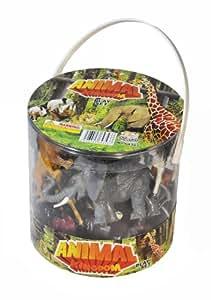 Amazon Com Giant Bucket Of Wild Jungle Animals Toy