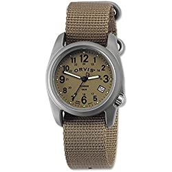 Orvis Men's Sandanona Titanium Field Watch, Khaki