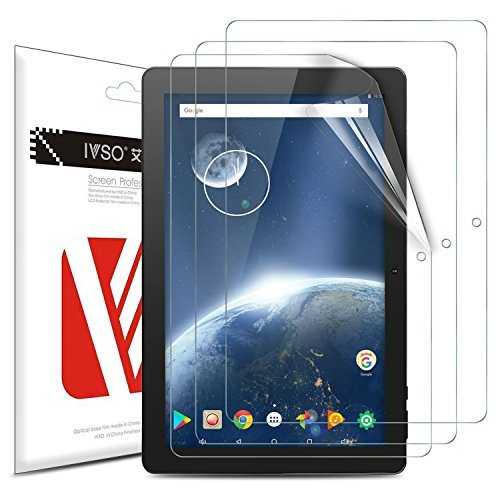 IVSO Screen Protector for Dragon Touch X10 2018 Tablet, Premium Crystal HD Clear Scratch Resistant -3 Pack for Dragon Touch X10 2018 Tablet