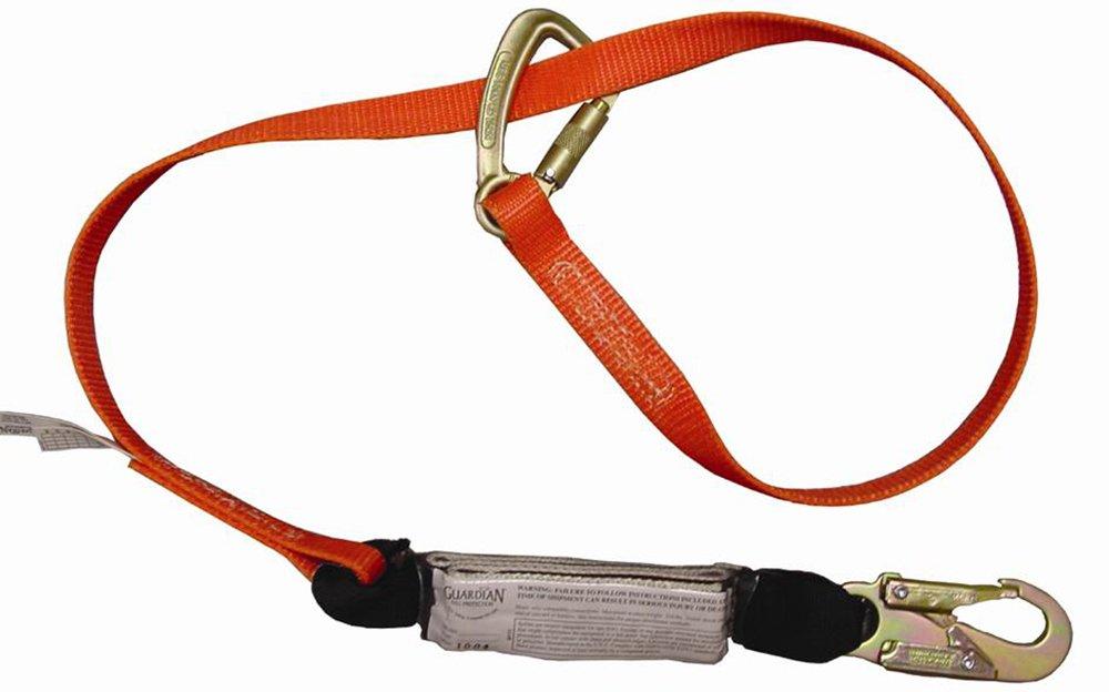 Guardian Fall Protection 11750 F60 6-Foot Single Leg Triple Lock Wrap Lanyard