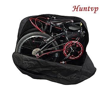 Sacca Bici Pieghevole.Huntvp Borsa Trasporto Bici Pieghevole Borsa Per Bicicletta Pieghevole Sacca Porta Bici 14 20 Pollici