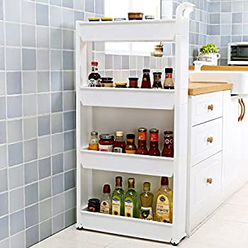 Amazon Com Yaheetech Slimline Rolling Bathroom Kitchen