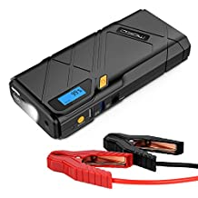 MoKo 1200A Peak Car Jump Starter, 12000mAh Portable Power Bank Battery Booster (Up to 6.5L Gas, 3.5L Diesel Engine), with 2 USB Ports, Car Charger, Emergency LED Flashlight (Yellow)
