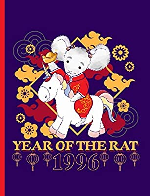 Year of the Rat 1996 Unicorn Composition Notebook: Happy Chinese New Year, College Ruled Note Book (Lunar Calendar Gifts Vol 12)