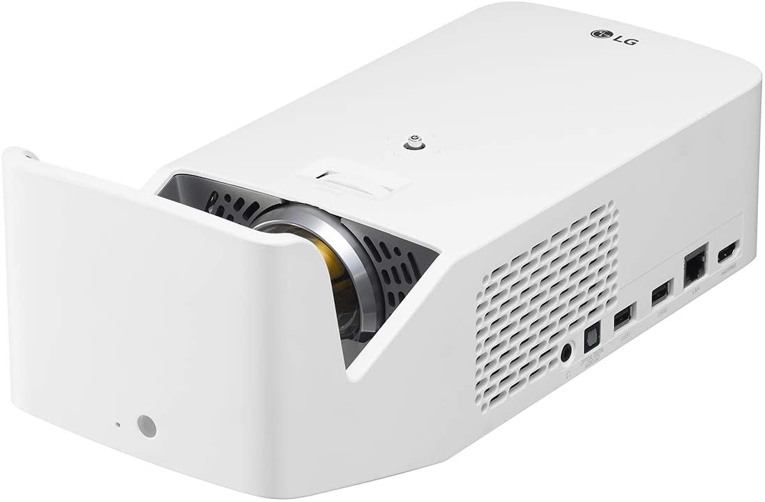 LG HF65LA Ultra Short Throw LED Home Theater CineBeam Projector with Smart TV and Bluetooth Sound Out (2019 Model), White