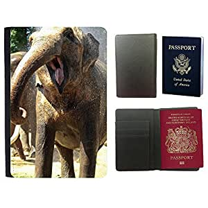 Passeport Voyage Couverture Protector // V00002227 elefante divertido // Universal passport leather cover