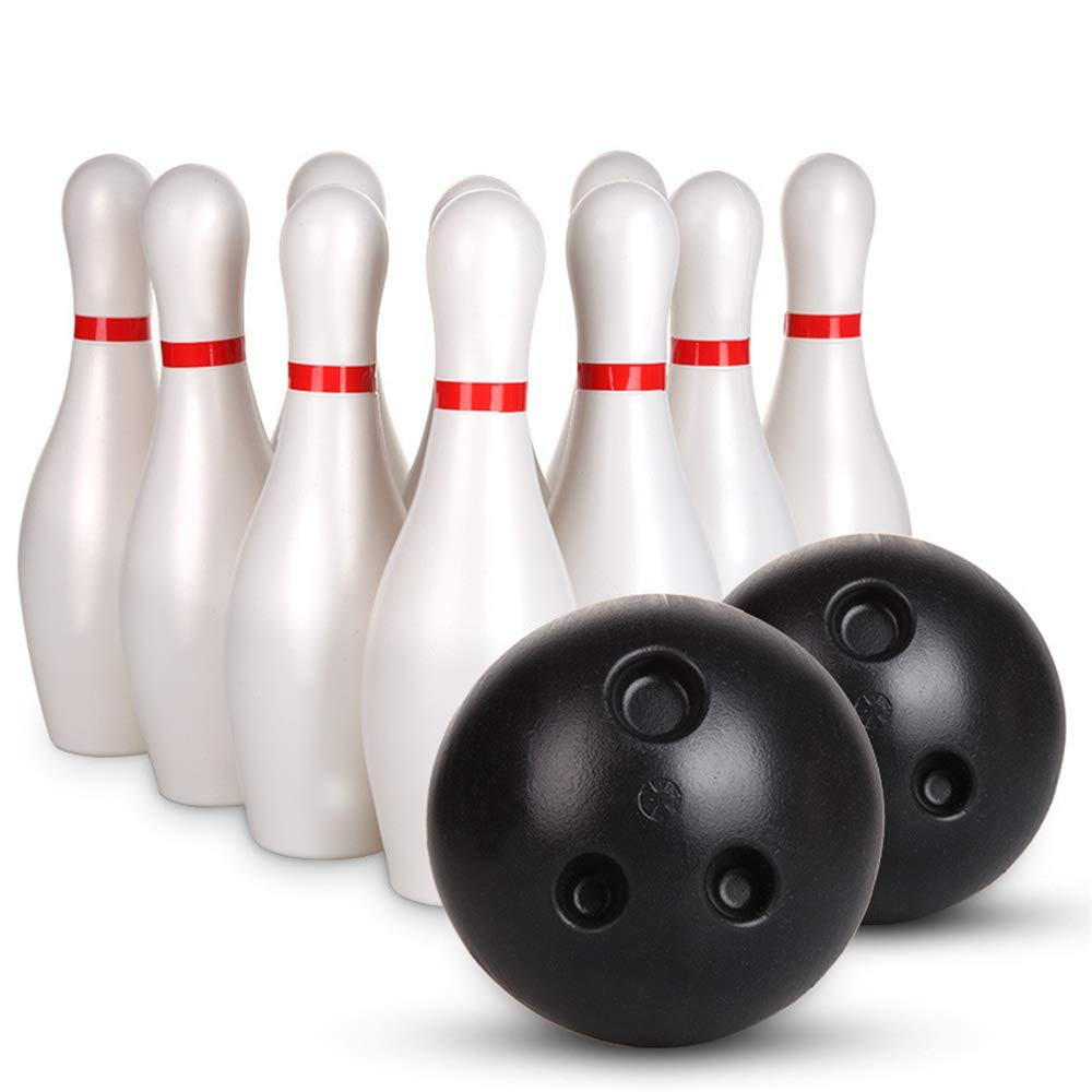 KMCMYBANG Bowling Toy Bowling Pins Ball Toys Small Plastics Bowling Set Fun Indoor Game with 10 Mini Pins and 2 Balls Toy Great Gift Kids Toddlers Boys Girls Children Adults Kids Bowling Toys by KMCMYBANG