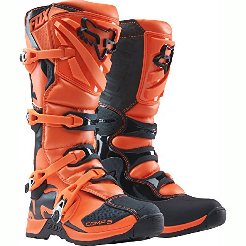 2018 Fox Racing Youth Comp 5 Boots-Orange-Y8 by Fox Racing