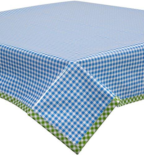 light blue gingham table cloth - 4