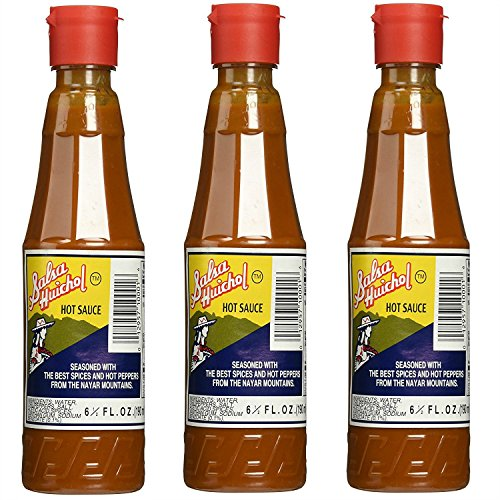 - Salsa Huichol Hot Sauce 6.5 oz (pack of 3) - Mexican Sauce