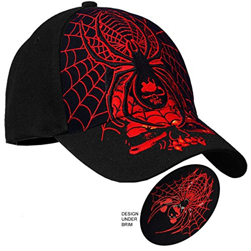 idow Ball Cap in Black (Hot Leathers Leather Hat)