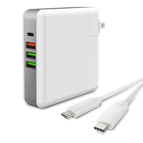 Amazon.com: Cargador de pared USB C HASESS 4 puertos 61 W ...