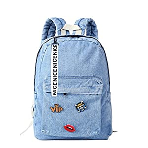 Backpacks for Teen Girls Denim  School Bag Jeans Backpack