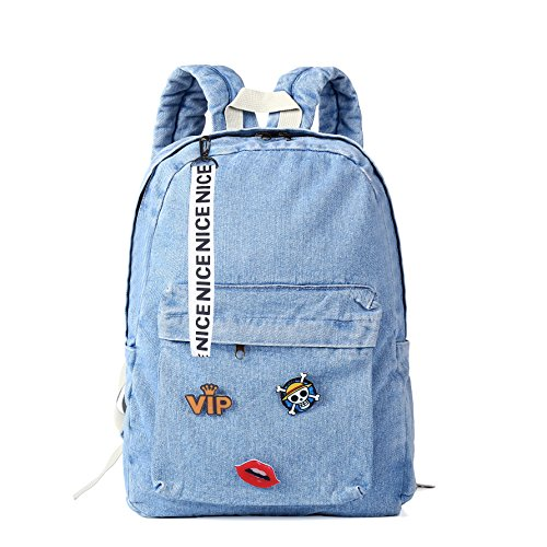 Denim Backpack for Girls, Women Classic Retro Bookbags Children Teen School Bag Jeans Backpack for College