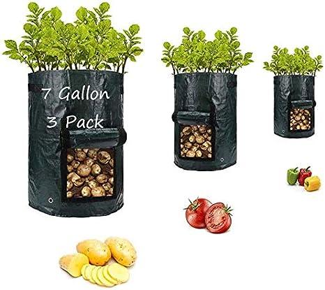 Potato Grow Bags Gallon Garden Vegetable Fabric Planters Bag for Planting Potato Carrot Peanut Onion A