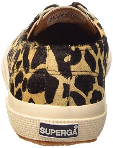 Superga 2750-LEAHORSEW Damen Hohe Sneakers Braun