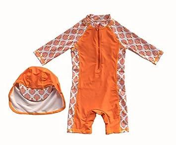 6739204b10d27 Bonverano 水着 男の子 半袖 UPF50+ 日焼け止め UVカット ラッシュガード ボーイズ 03歳 ベビー キャップ