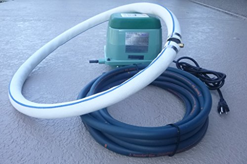 Aquaponics / Hydroponics / Koi Pond / Water Gardens Applications -- Bubblemac ''Ring-Of-Bubbles'' Complete High-Performance Air Diffuser System w/ Weighted Tubing; -model# RB40- by BubbleMac Aeration Products